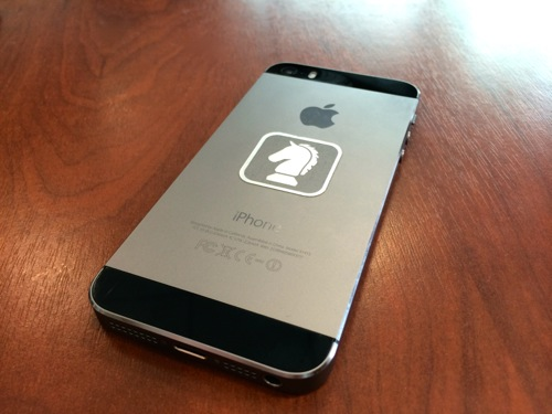 iPhone 5s with Sleipnir sticker
