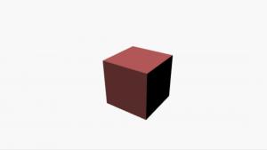 画面中央に赤い立方体が表示されれば、Three.js チャレンジは成功です。